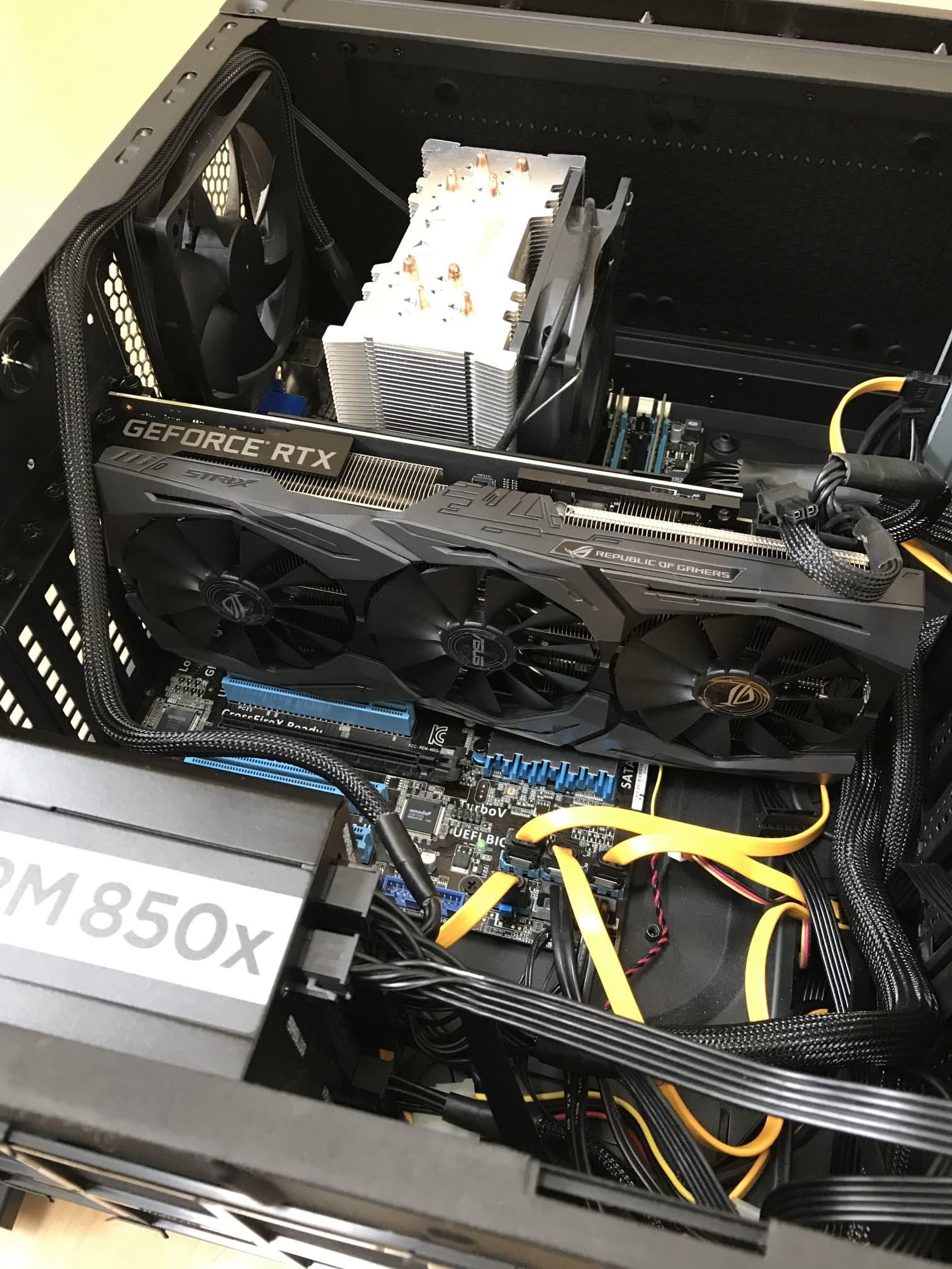 【RTX SUPER】P8H77-Vで動いた!ASUS ROG-STRIX-RTX2060S-O8G-GAMINGを購入しました!