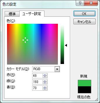 ユーザー設定タブ(RGBなど)