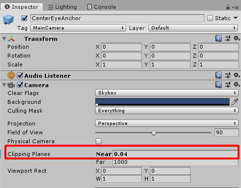 3Dモデルにギリギリまで寄るための設定