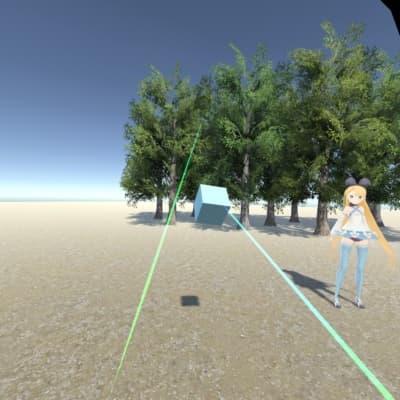 VR Grabberで表示したカッコいい青いレーザー
