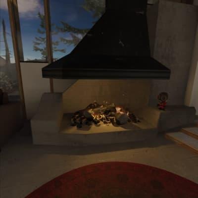 SteamVRのホームの暖炉