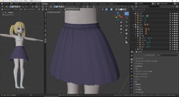 スカートを作り直す