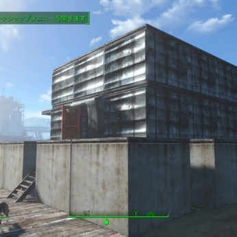 【Fallout4 クラフト】メインの家を作る!二階建てベランダ屋上付きの家を建てました!拠点が充実してきましたよ
