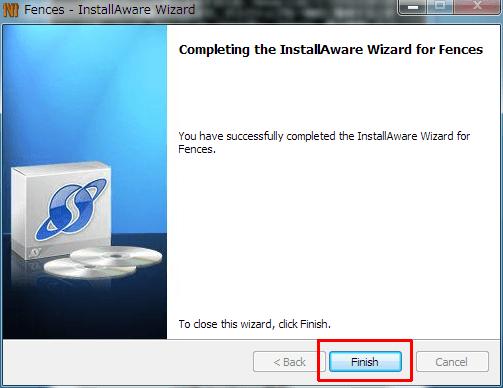 Finishボタンをクリックする