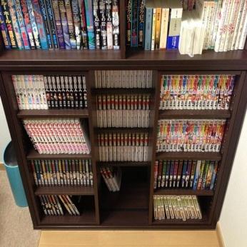 書斎に買った本棚は上下段になんでも置ける!ニトリ 組合せ書棚セット ファーヴォ/スライドファーヴォ 9090DBR